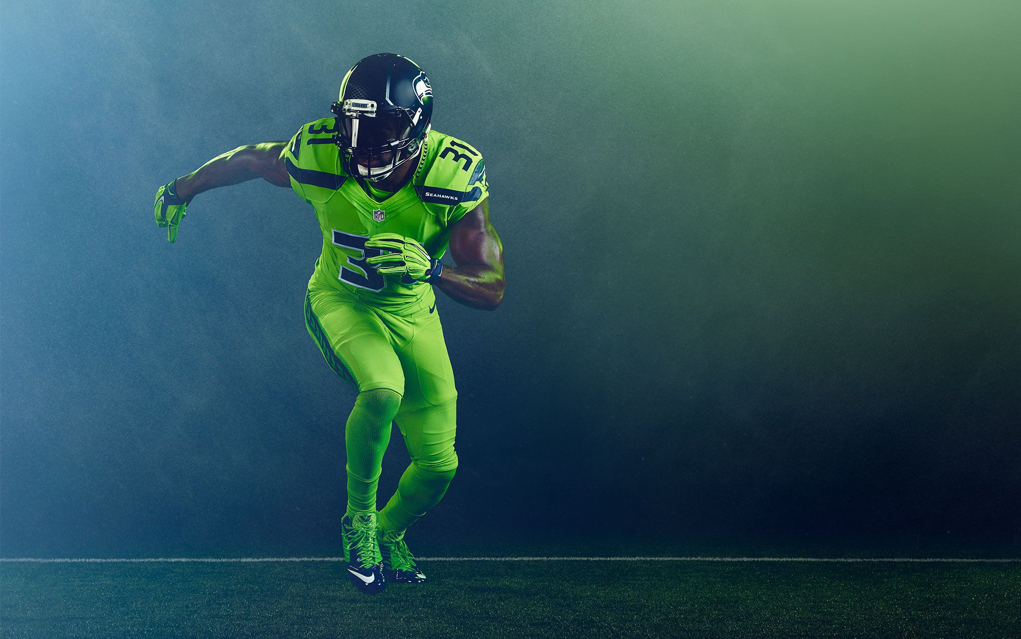 sports shoes a30fb 2b506 Seattle Seahawks - Color Rush on Behance | Sports ...