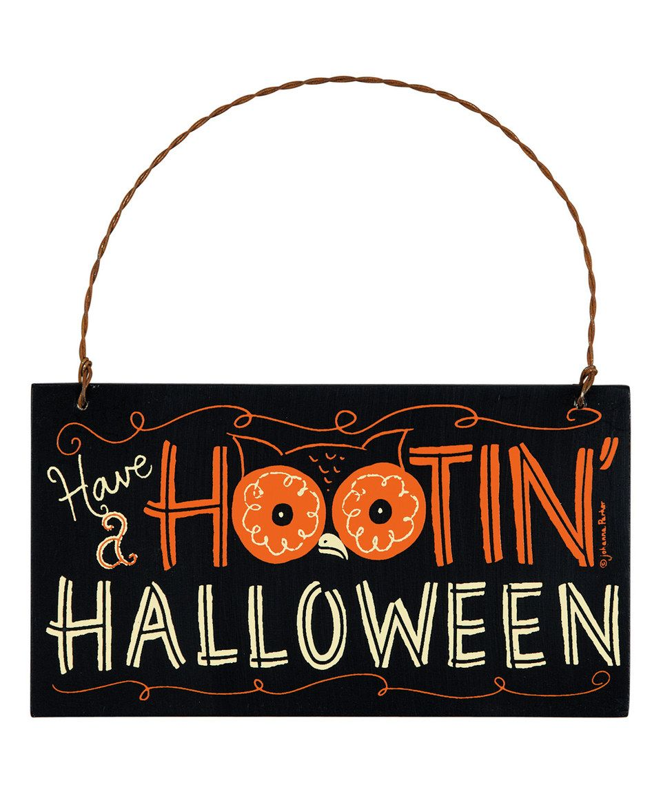 primitives by kathy have a hootin halloween hanging sign - Primitives By Kathy Halloween