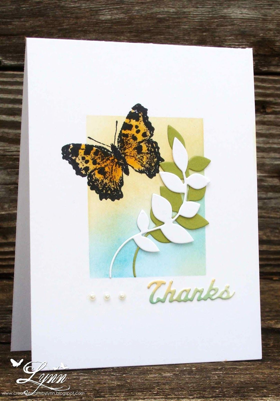 Creative Crafts by Lynn: Butterfly Thanks
