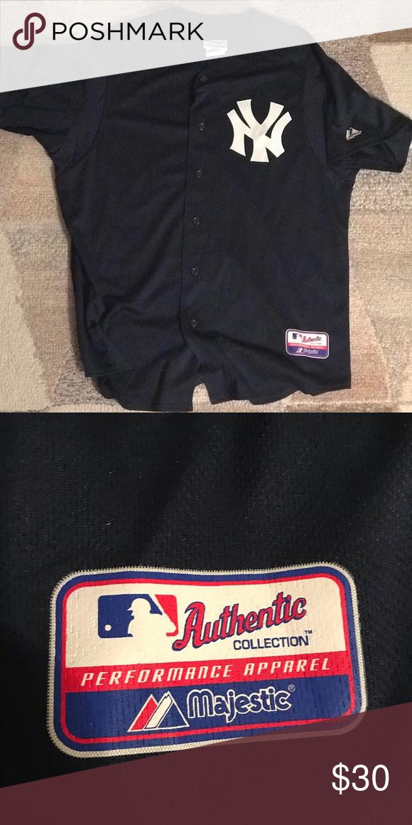 online retailer e8b22 78bb8 Yankees batting jersey navy blue Yankees batting practice ...
