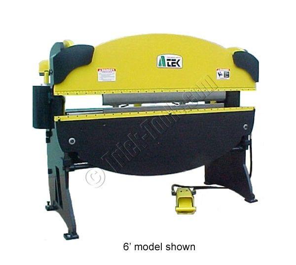 Atek Pm642 6 Foot 42 Ton Pneumatic Press Brake Press Brake Metal Working Tools Metal Bending
