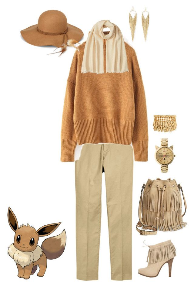 """Eevee inspired pokemon"" by erin-hartfile on Polyvore featuring Patricia Nash, Barbara Bui, Brunello Cucinelli, Henri Bendel, Jules Smith and Boum"