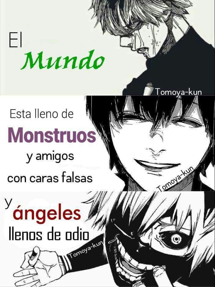Frases, Anime Y Tokyo Ghoul