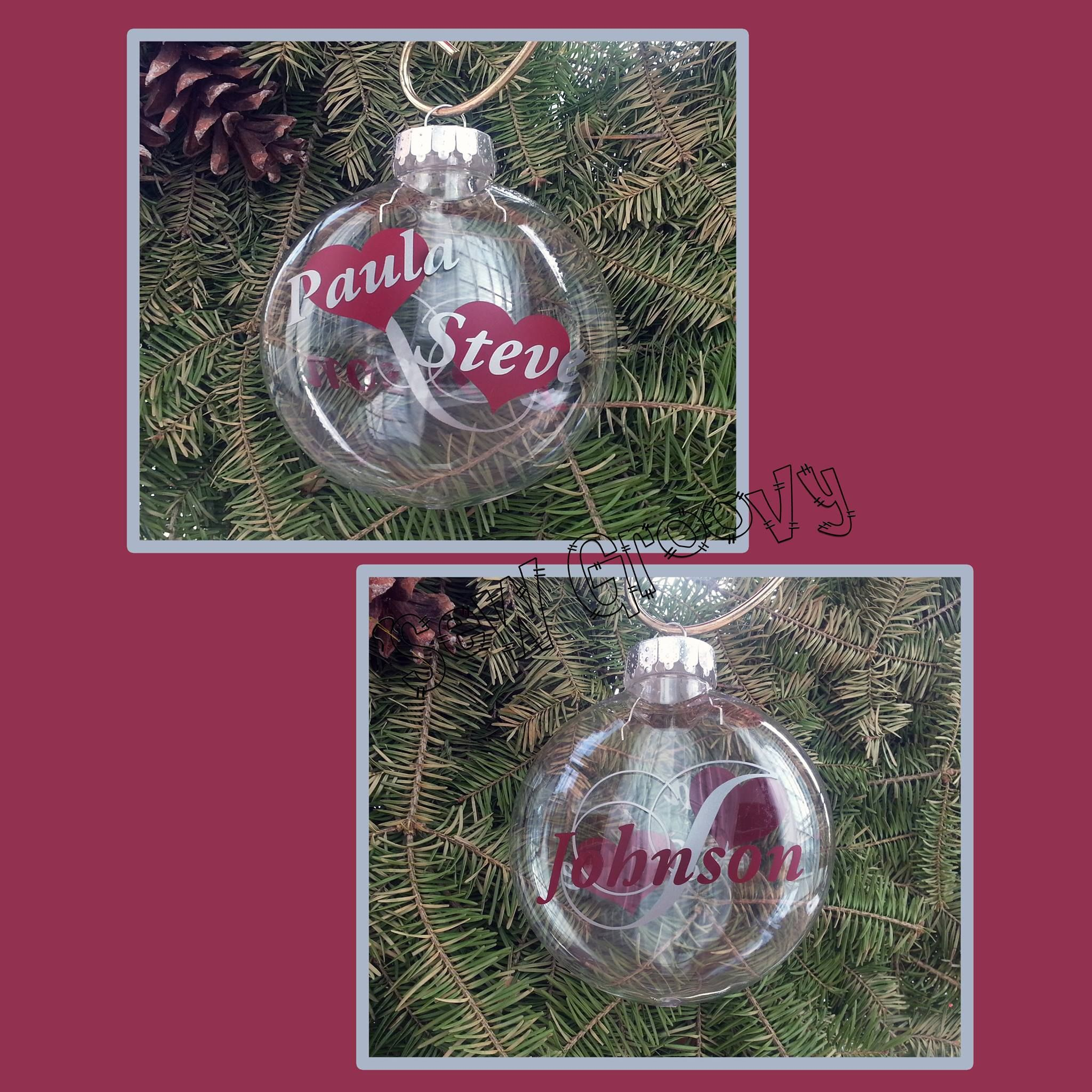 Couples christmas ornaments - Christmas Ornaments Personalized With Any Names Perfect For Couples Wedding Gifts Or To