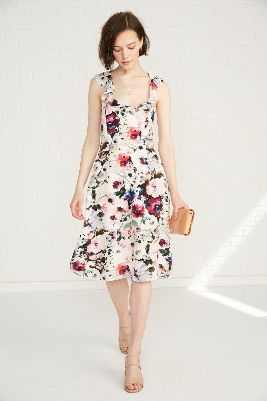 Blossom Silk Dress Windsor Floral Occasion Amour Vert Silk Dress Dresses Windsor Dresses [ 1186 x 791 Pixel ]