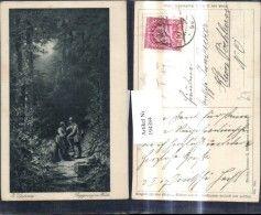 194384,Künstler Ak Karl Carl Spitzweg Begegnung i. Walde Frau Jäger