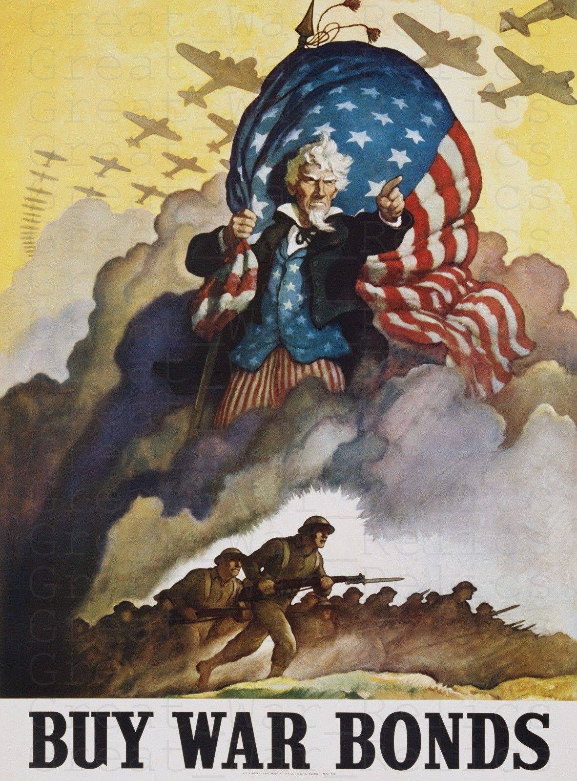 War Army Uncle Sam USA Recruitment Iconic Giant Wall Art Poster Print