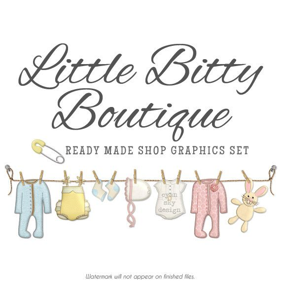 Baby Clothes Shop Branding Banners Avatar Icons Business Card
