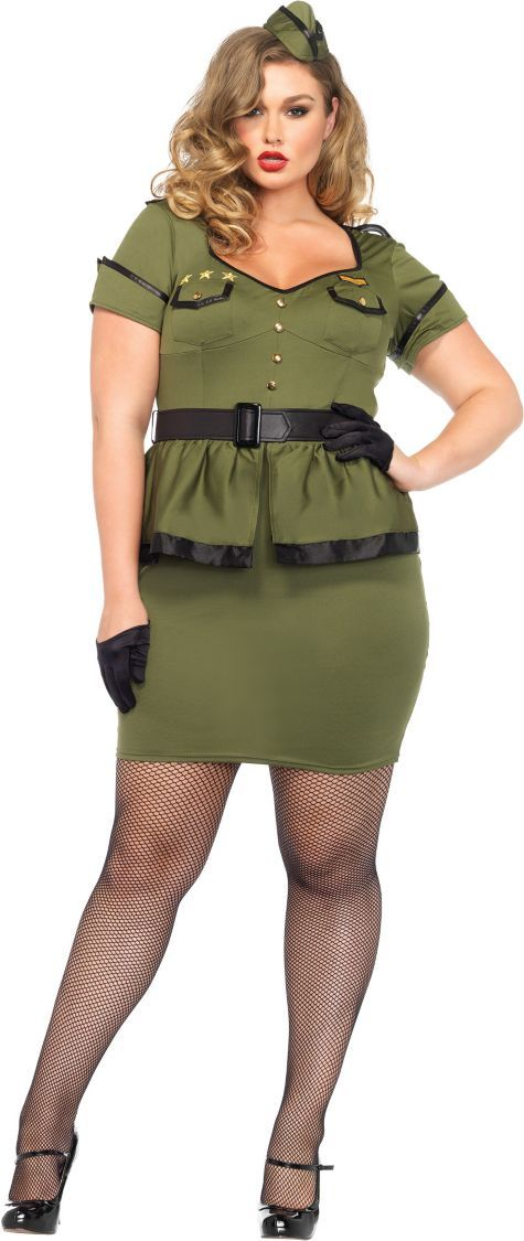 adult commander cutie army costume plus size party city - Halloween Army Costume