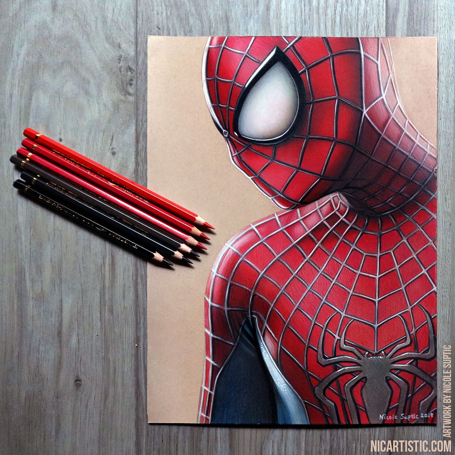 Realistic Colored Pencil Drawing Of The Amazing Spider Man Spiderman Drawing Spiderman Sketches Spiderman