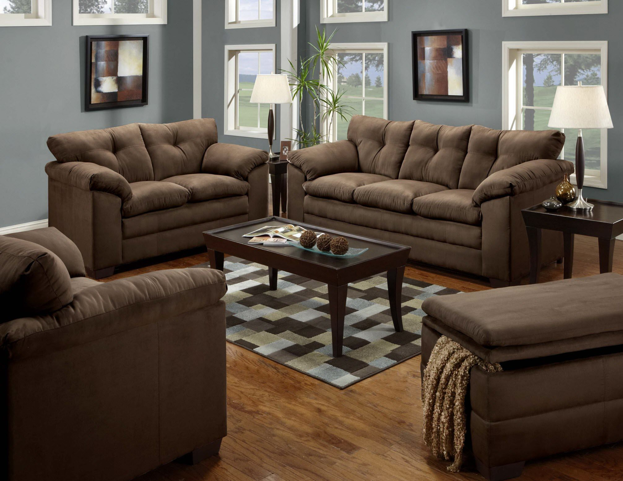 Luna Chocolate Sofa & Loveseat - $658 www.furnitureurban.com - Other ...