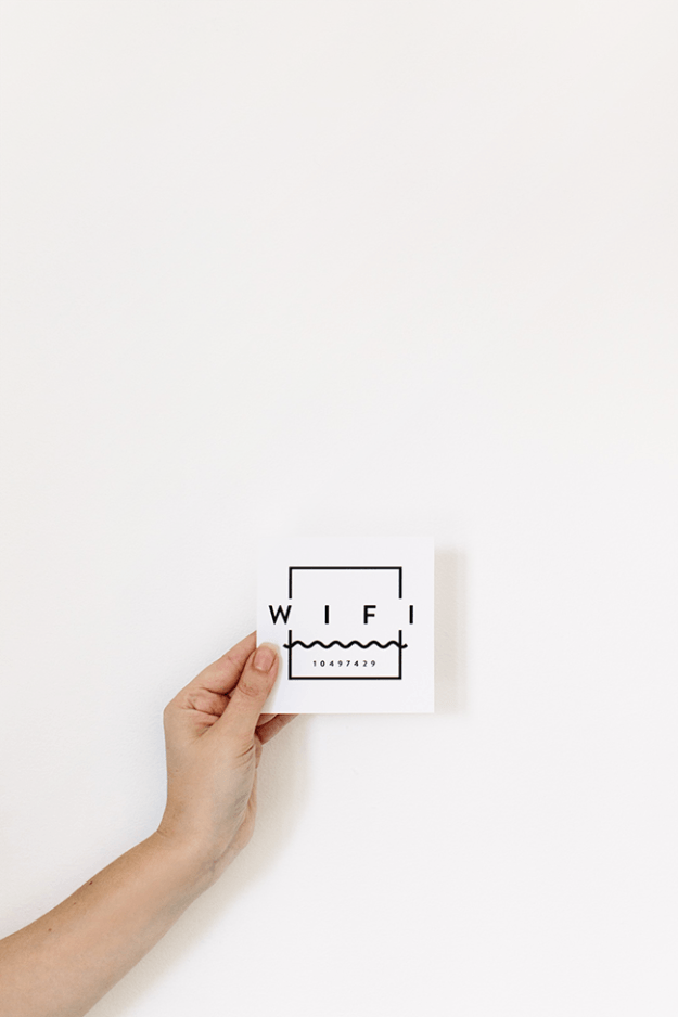 printable wifi guest card | DIY Bloggers | Wifi password