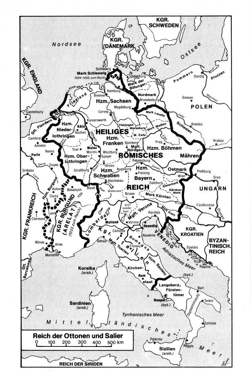 Karte Deutschlands Im 10 Und 11 Jahrhundert Karte Deutschland