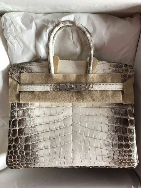0369bfdfda Model  Hermes Birkin 25 Himalayan Condition  New Leather  Matt Niloticus  Crocodile Hardware  Palladium Stamp  X Comes with  Full set 2017 receipt ...