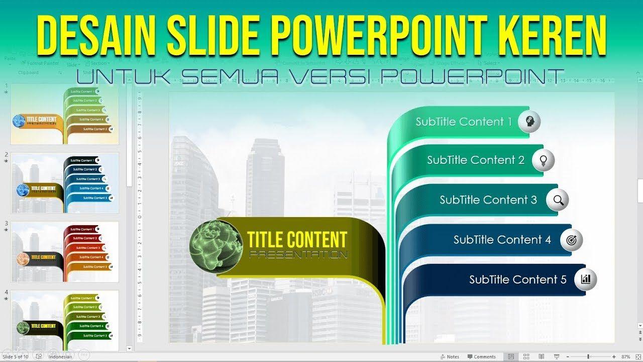 Cara Membuat Slide Power Point Yang Menarik Desain Pengikut