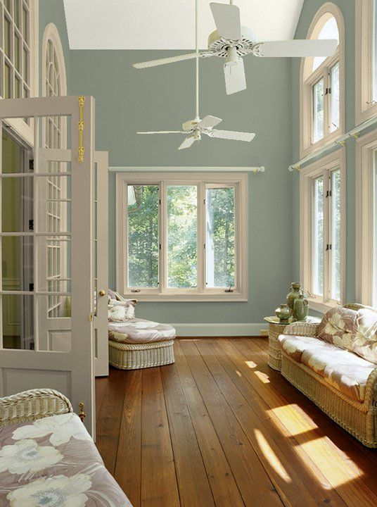 Paint Colors For Living Rooms With White Trim Corner Sofa Room Love This Color Sort Of Like Our Kitchen Walls And Accents Warm Blue Grey Wall