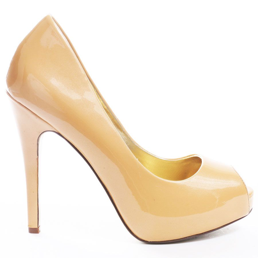 Get your hands on the It shoe of the season. The Martinez Valero Ona-2 is an illuminous, nude peep toe pump. This stunner is complete with a 4 1/4 inch stiletto heel and 1 inch hidden platform.
