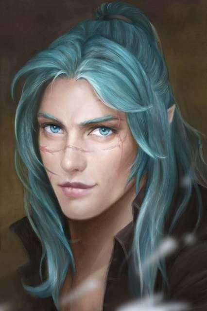 38 Ideas For Eye Blue Men Hair Elf Art Character Portraits Blue Hair