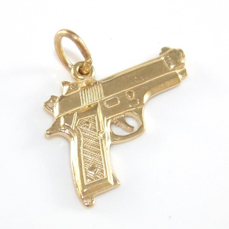 10k yellow gold gun pistol weapon pendant qr in jewelry watches 10k yellow gold gun pistol weapon pendant qr in jewelry watches fine jewelry aloadofball Image collections