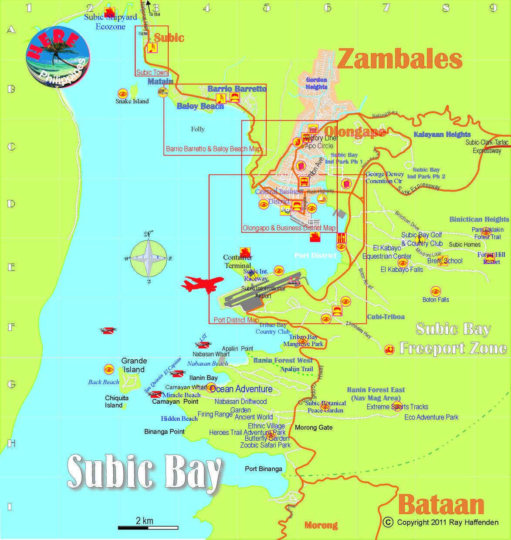 Subic City Philippines Subic Bay Map Subic Coast 2012 Subic City