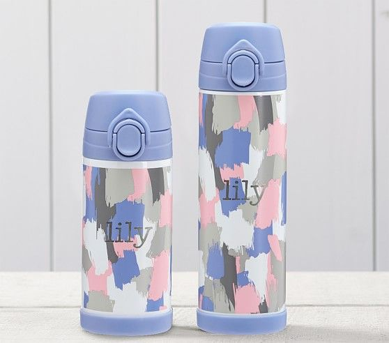 Mackenzie Pink Lavender Paintbrush Ombre Kids Water