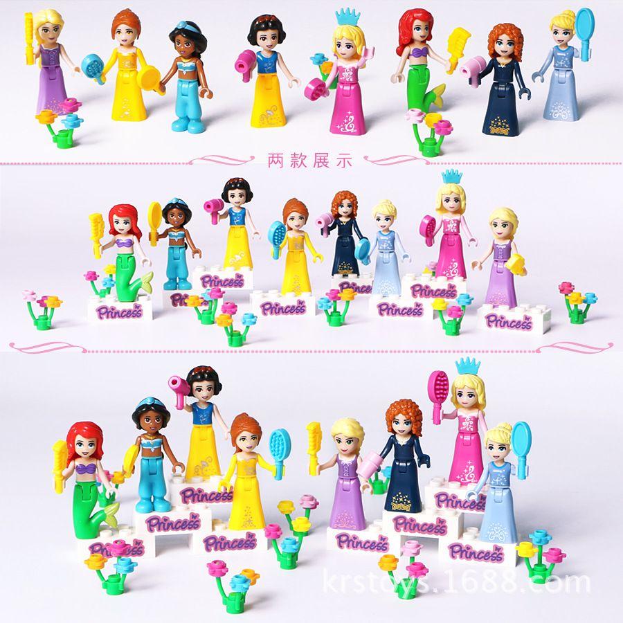 8 Sztuk Bajka Księżniczka Dziewczyna Modelu Budynku Lalki Figurki