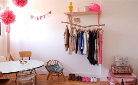 ideen kleiderstange design hängestange holz | Wohnen | Pinterest