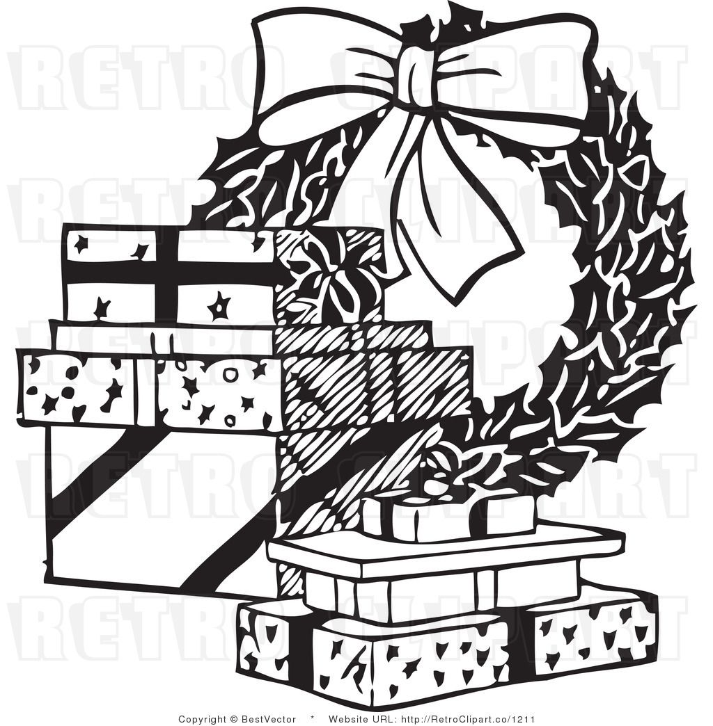 clip art black and white Related Searches for christmas