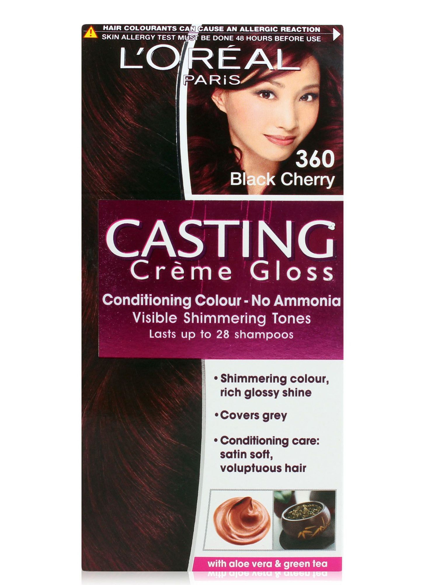 Loreal Casting Cream Gloss 360 Black Cherry With Images Hair