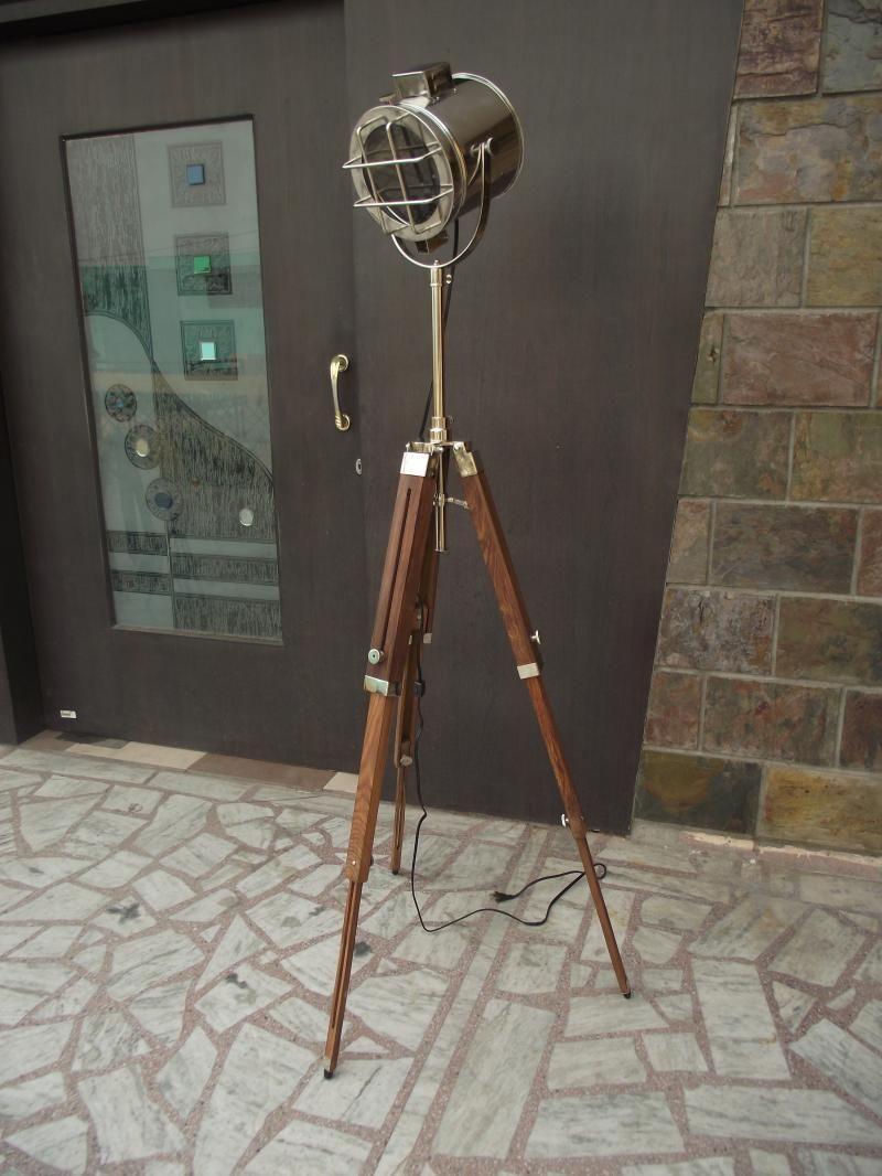 Designer Marine Tripod Floor Lamps Searchlight Vintage Floor Spot ...