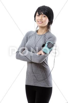 Fitness model listening to music Stock Photos #AD ,#listening#model#Fitness#Photos