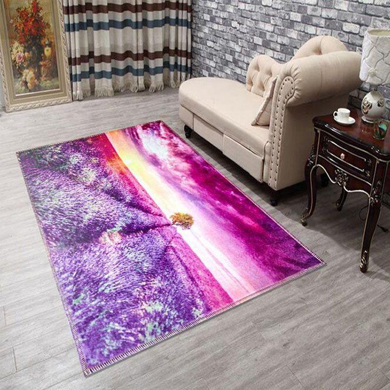 Free 60 90cm Cartoon Entrance Carpet 3d Printed Flower Sea Rug For Living Room