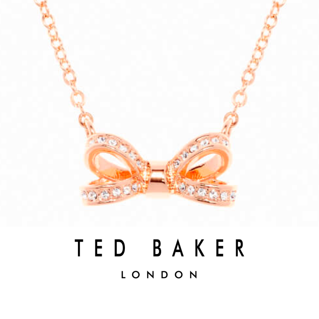 7d2816d4f5b Cute Sparkly Bow Necklace by Ted Baker   Olessi Mini Opulent Pavé Bow  Pendant - Rose Gold Crystal   Ted Baker Necklace   Gift Idea for Girls    Christmas ...