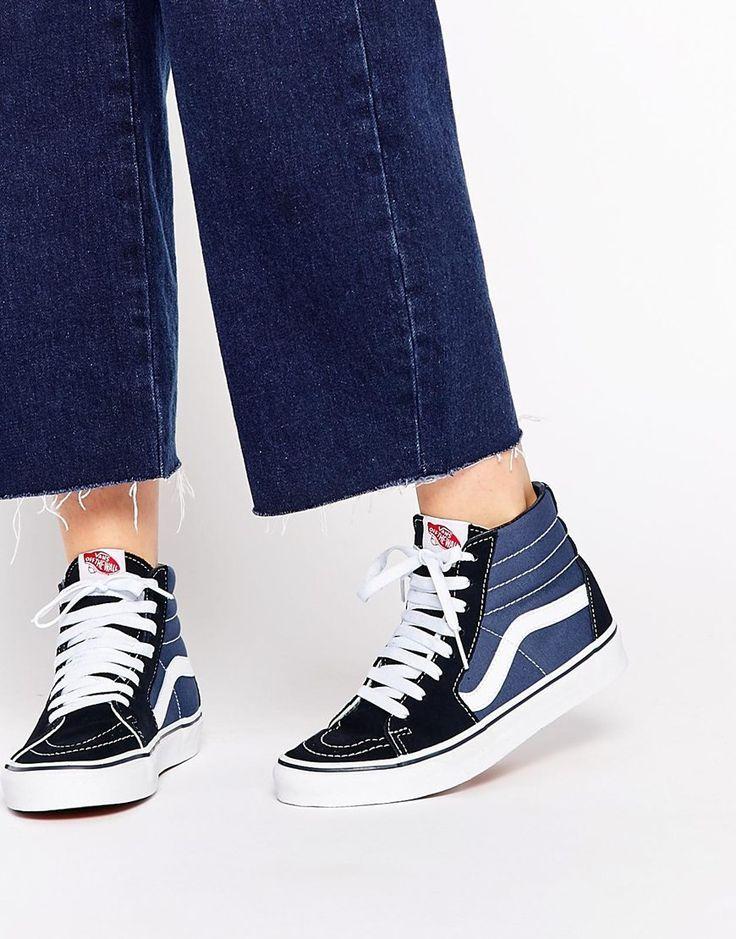 vans shoes high tops blue