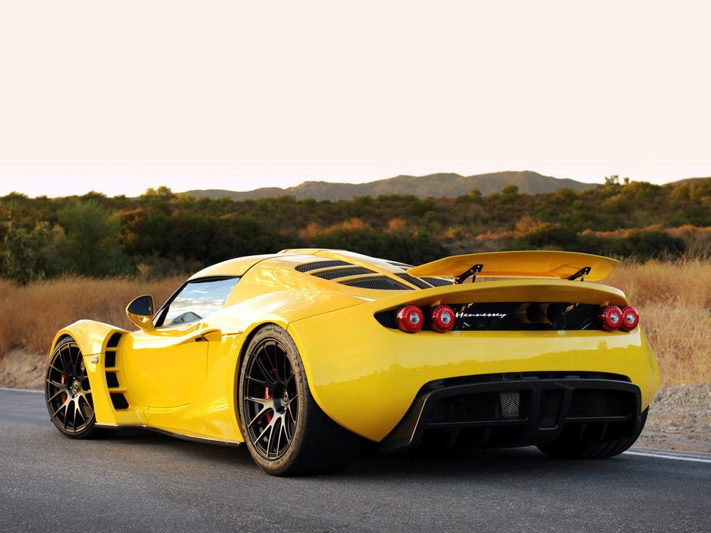 Sports Car Hennessey Venom GT Rear View Wallpaper Cars - Fast car deals