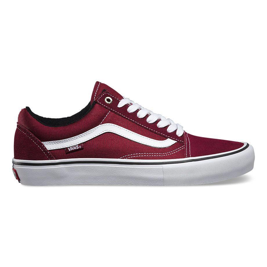 Vans Port/White Old Skool Pro, white vans shoes cheap | Shoes ...
