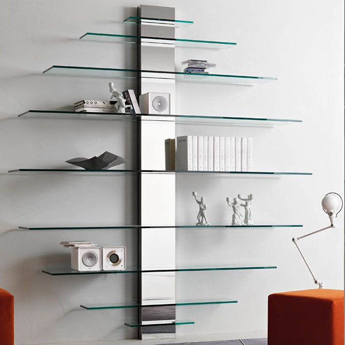 High Quality Tonelli Mondovisione Glass Wall Shelving Unit By G.