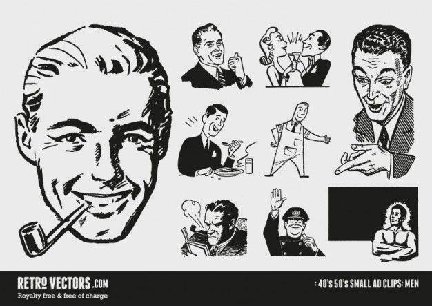 Download 50s Small Ad Clipart For Free Retro Vector Clip Art Vintage Retro Illustration