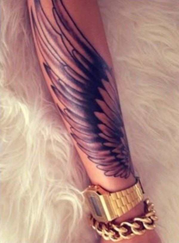 35 Breathtaking Wings Tattoo Designs | Forearm tattoos ...