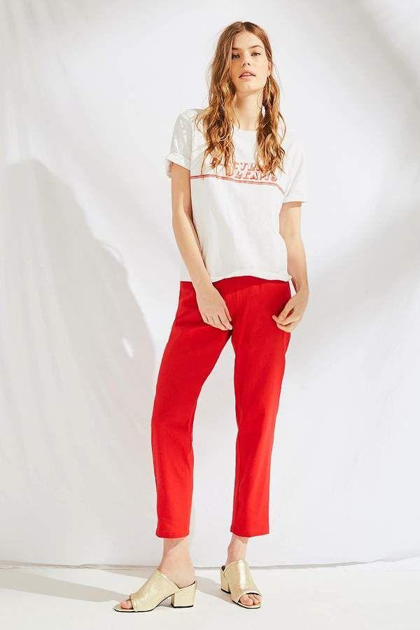 400accb44f Urban Renewal Remnants Linen Pin-Up Pant   Red Pants   Pin up pants, Urban  renewal, Pants