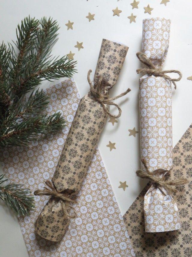 Pack De 6 Noël Cracker Kit-Marque//remplir votre propre-Rouge//HO HO HO
