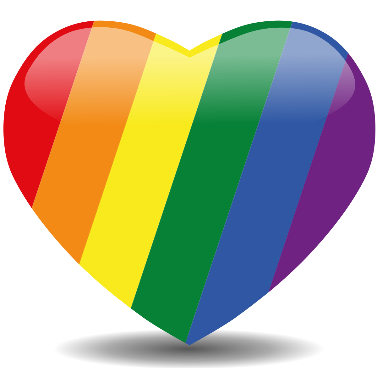 Image result for rainbow heart
