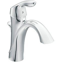 Overstock.com - Moen 6400 EVA One-Handle Chrome High Arc Bathroom ...