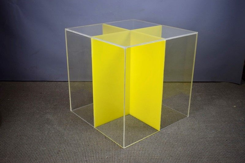 Acrylic side table cube table perspex