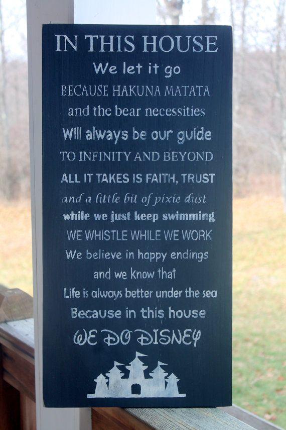 Disney Family Rules Sign Disney Sign Disney Wood Sign