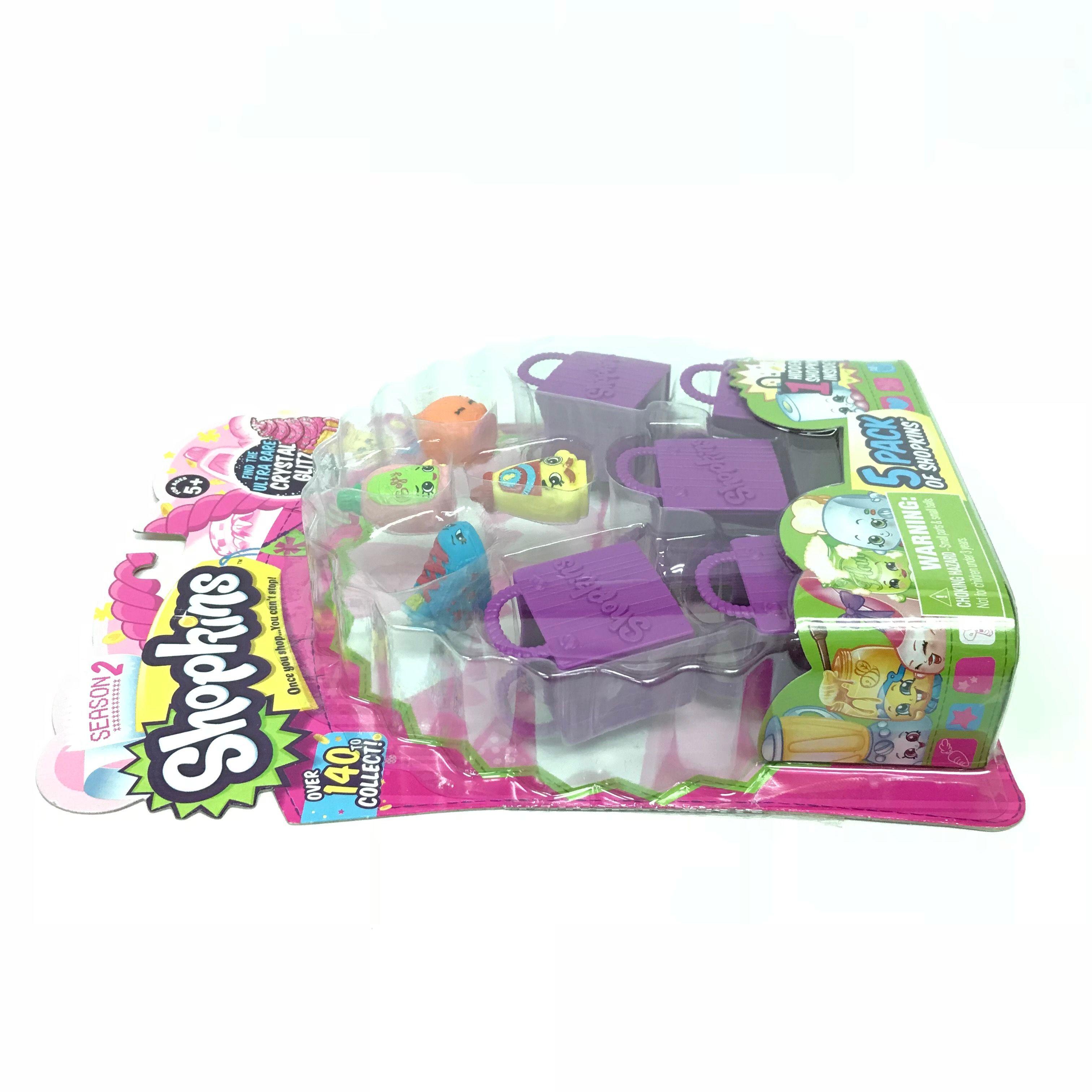 Shopkins-Season-2-Collectibles-Pack-of-5-Bags-Characters-Set thumbnail 10