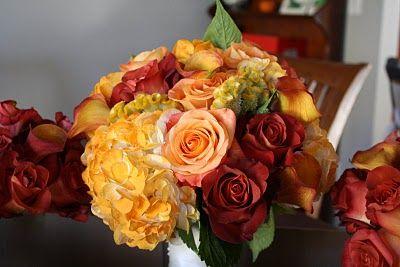 Bouquet w coffee break roses and hydrangeas   Broken rose