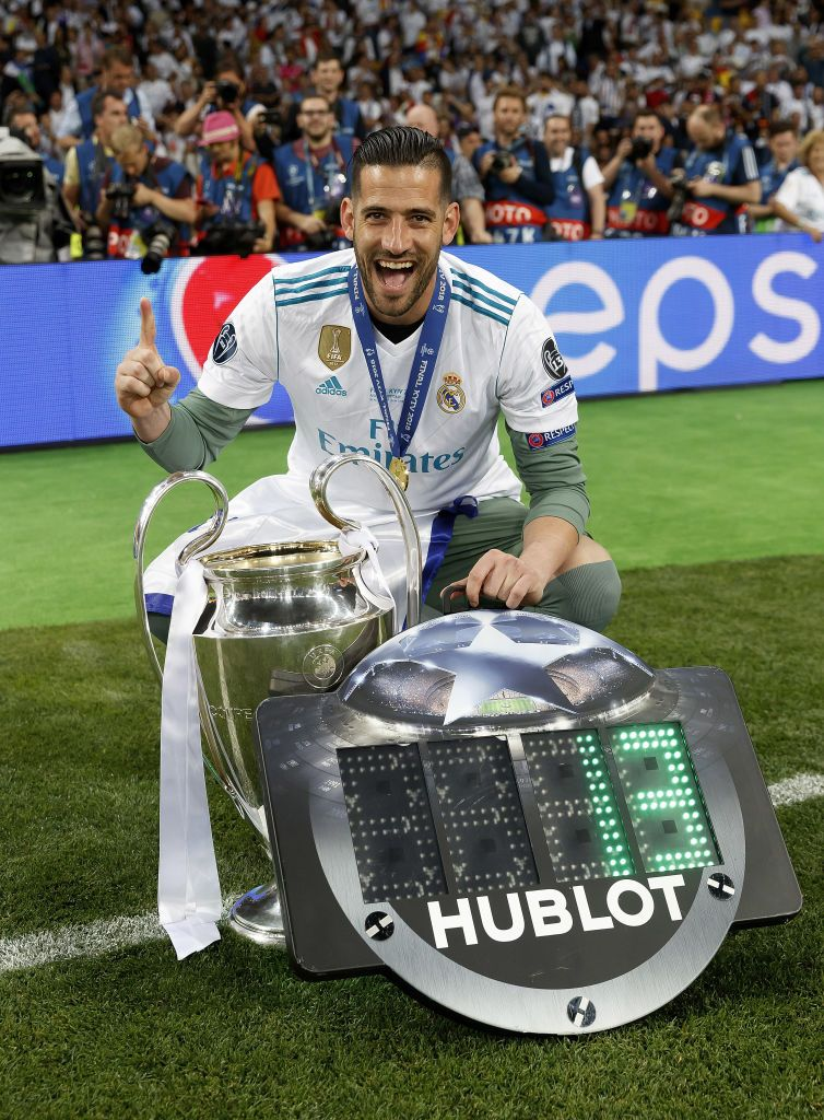 Kiko Casilla Of Real Madrid Celebrates With The Uefa Champions League Real Madrid Uefa Champions League Madrid