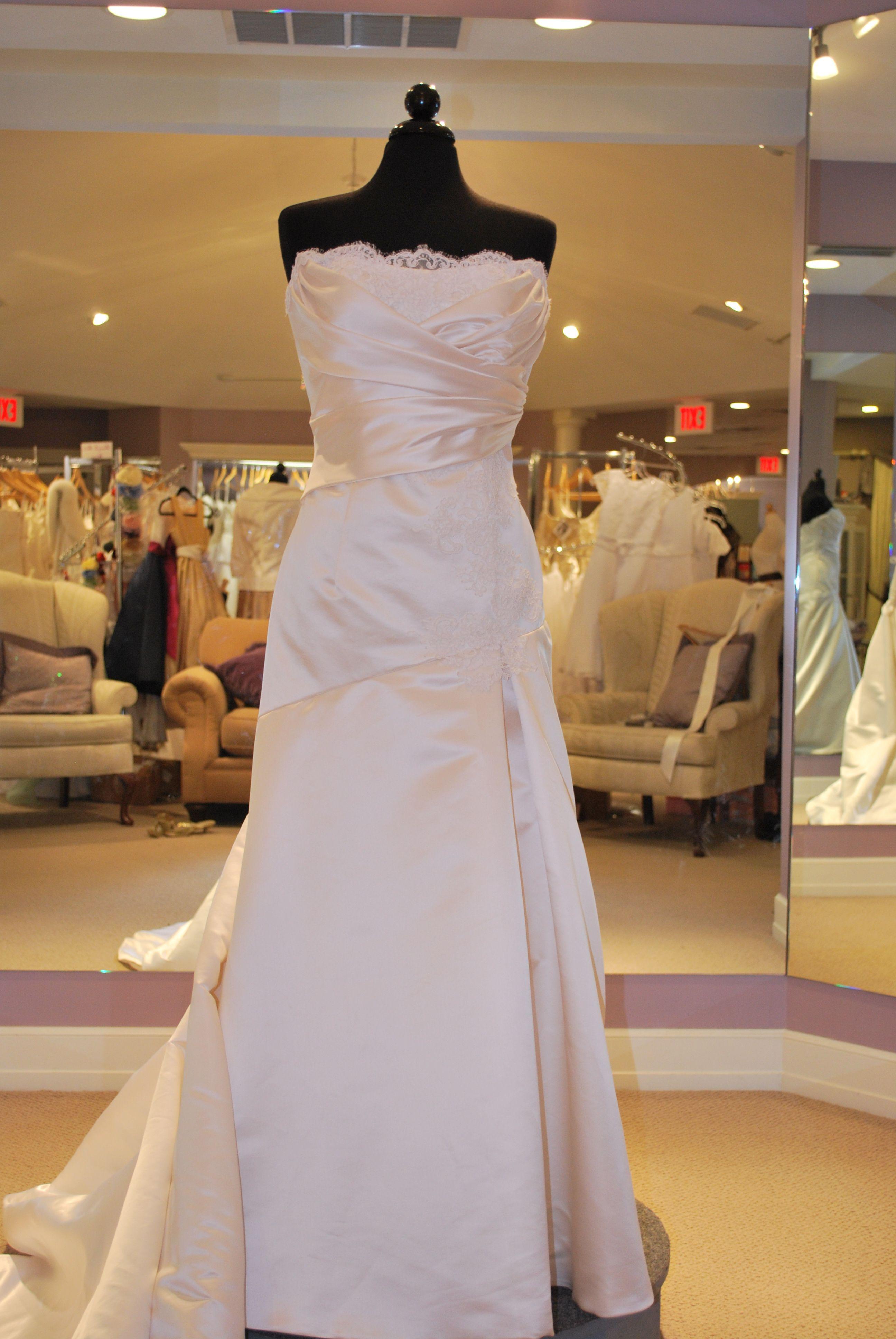 Simone Carvalli Style 7008 bridal gown white size 12
