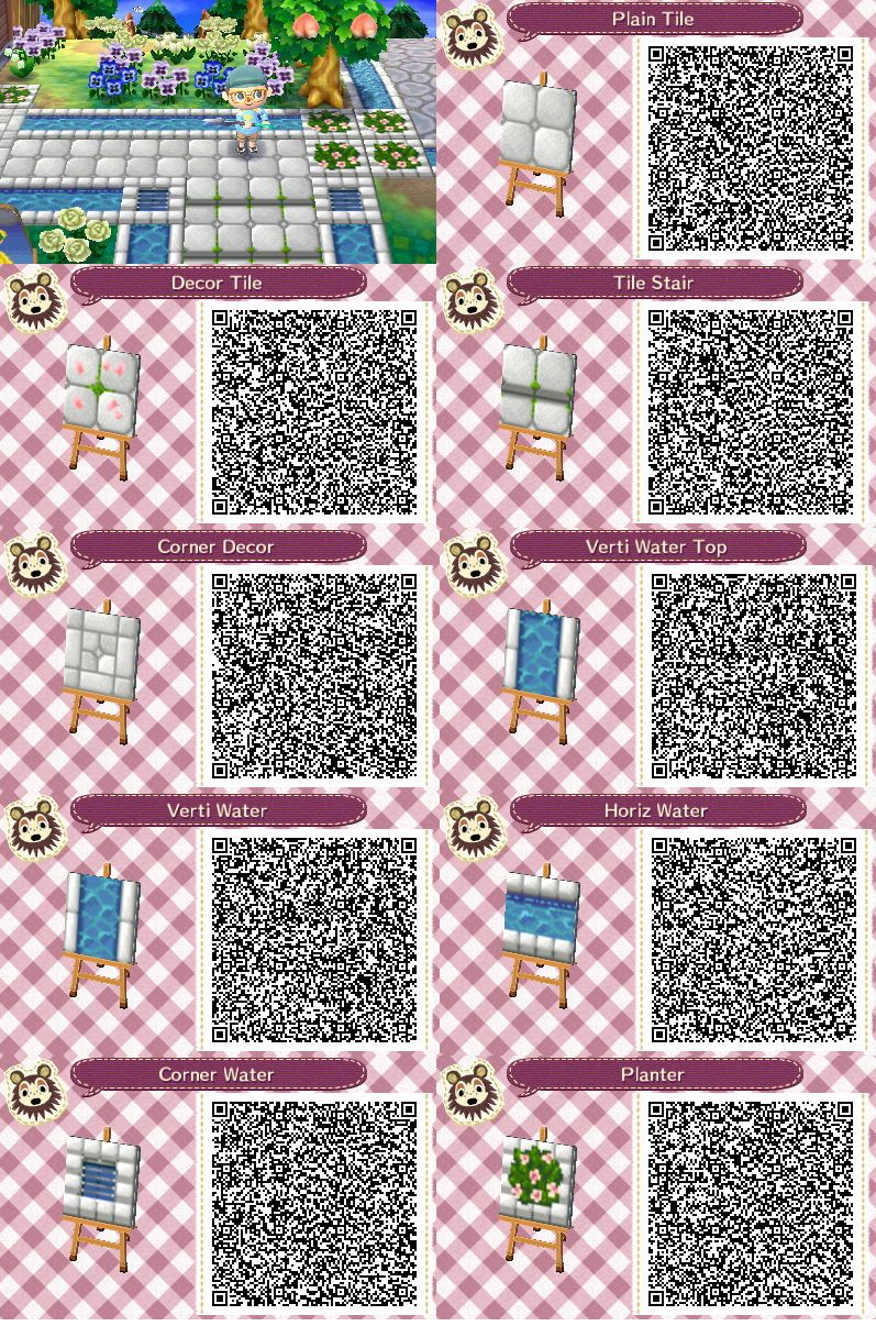 Brick Stairs With Waterway Animal Crossing Qr Animal